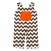 Applique Pumpkin Chevron Longall PRE-ORDER