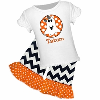 Personalized Ghost Graphic Tee/Ruffled Capri or Pant Set PRE-ORDER