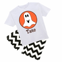 Personalized Ghost Graphic Tee/Pant Or Short Set PRE-ORDER
