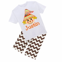 Personalized Scarecrow Graphic Tee/Pant Set