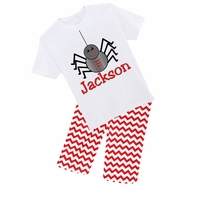 Personalized Spider Graphic Tee/Short, Capri, or Pant Set