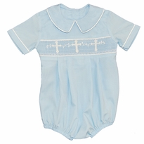 Smocked Cross Boy Bubble