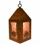 "10"" Buffalo Metal Lantern Hanging Pendant Light"