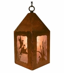"10"" Flying Ducks Metal Lantern Hanging Pendant Light"