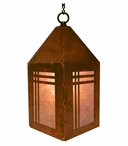 "10"" Mission Metal Lantern Hanging Pendant Light"