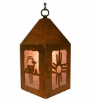 "10"" Ram Goat Metal Lantern Hanging Pendant Light"
