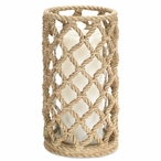 """10"""" Rope Look Pillar Candle Holder, Set of 3"""