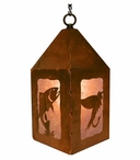 "10"" Trout Fish Metal Lantern Hanging Pendant Light"