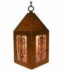 "10"" Yei Metal Lantern Hanging Pendant Light"