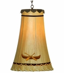 "12.5"" Canoe Hand Painted Rawhide Hanging Pendant Light"