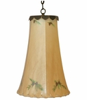 "12.5"" Pine Cone Hand Painted Rawhide Hanging Pendant Light"