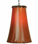 "12.5"" Saddle Brown Rawhide Hanging Pendant Light"