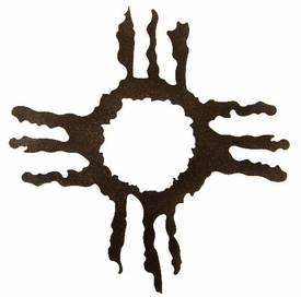 "12"" Hopi Sun Metal Wall Art by Kevin Fletcher"