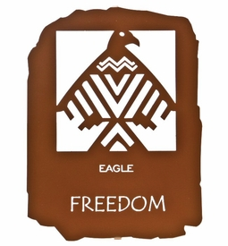 "12"" Native American Freedom Metal Wall Art by Bindrune Design"