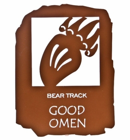 "12"" Native American Good Omen Metal Wall Art by Bindrune Design"