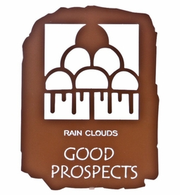 "12"" Native American Good Prospects Metal Wall Art"