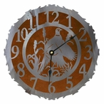 "12"" Pheasant Bird Metal Wall Clock"