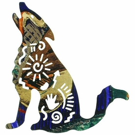 "12"" Story Coyote Metal Wall Art"
