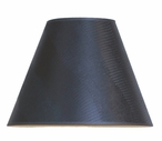 "13"" Black Opaque Brunswick Lamp Shade"