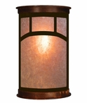 "13"" Mountain Mission Half Round One Light Metal Wall Sconce"