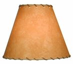"13"" Parchment Lamp Shade with Lace"