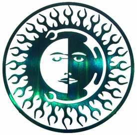 "15"" Sun Moon Fire Metal Wall Art by Joel Sullivan"