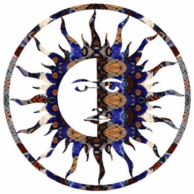 "15"" Sun Moon Metal Wall Art"