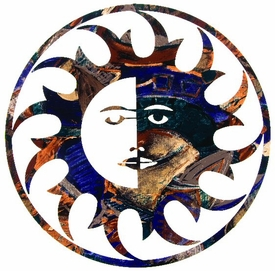 "15"" Sun Moon Rays Metal Wall Art by Joel Sullivan"