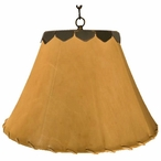 "16"" Natural Rawhide Hanging Pendant Light"