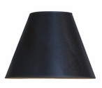"16"" Scenic Black Opaque Table Lamp Shade"