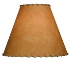 "16"" Scenic Parchment Table Lamp Shade with Beige Whip Stitch"