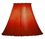 "16"" Scenic Saddle Brown Rawhide Table Lamp Shade"