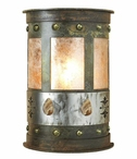 "17"" Picture Jasper Stone Half Round One Light Metal Wall Sconce"