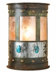 """17"""" Turquoise Stone Half Round Metal Wall Light Cover"""
