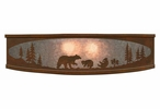 "18"" Bear Family in the Forest Metal Ceiling Light Fixture"