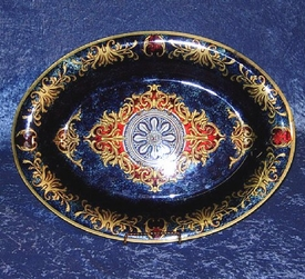 "18"" Blue Oval Plate"