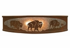"18"" Buffalo Family on the Range Metal Ceiling Light Fixture"