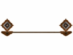 """18"""" Burnished Diamond Copper Berry Concho Metal Towel Bar"""