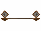 """18"""" Burnished Diamond Old Silver Berry Concho Metal Towel Bar"""