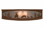"18"" Deer Family in the Forest Metal Ceiling Light Fixture"