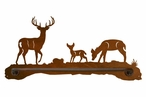 "18"" Deer Family Metal Towel Bar"