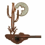 "18"" Burnished Desert Moon Metal Towel Bar"