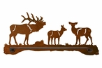"18"" Elk Family Metal Towel Bar"