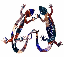 "18"" Gecko Lizard Tango Metal Wall Art by Neil Rose"
