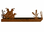 "18"" Quail Bird Family Metal Wall Shelf with Ledge"