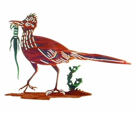 "18"" Roadrunner Bird Metal Wall Art by Neil Rose"