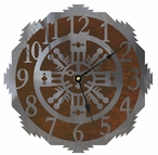 "18"" Sand Painting Metal Wall Clock"