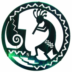 "18"" Southwest Kokopelli Metal Wall Art by Bindrune Design"