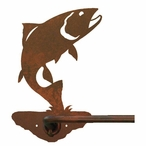"18"" Trout Fish Metal Towel Bar"