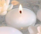 "2 1/4"" White Candle Floats Floating Candles, Set of 40"